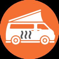 Campervan heating icon